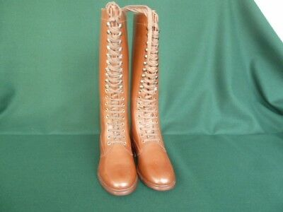 WW 1 to WW 2 French style knee high lace-up boots. Size 12