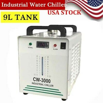 Industrial Water Chiller CW-3000 for Single 80W CO2 Laser Tube Cooling 110V