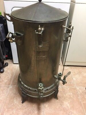 Antique Coffee Urn Home  Comfort Wrought Iron Range  St Louis MO. Hotel or train