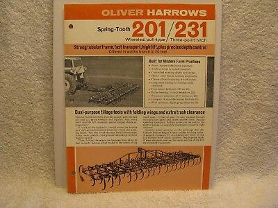 Oliver 201/231 Spring Tooth Harrows Brochure