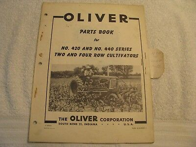 Original Oliver Parts Book for 420/440 Series Two and Four Row Cultivators