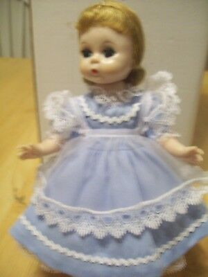 """VINTAGE MADAME ALEXANDER 8""""  BKW DOLL TAGGED  """"ALICE"""" made in U.S.A."""