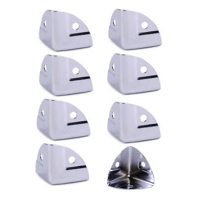 8pcs Metal Corner Angle Brace Protectors for Wooden Trunk Box Chest Flightcase