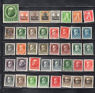 Germany Bavaria  Stamps Canceled Used & Mint Hinged  Lot  28248