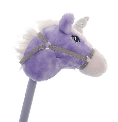Children Fanatsy Sparkle The Purple Hobby Horse With Real Sounds Kids Gift