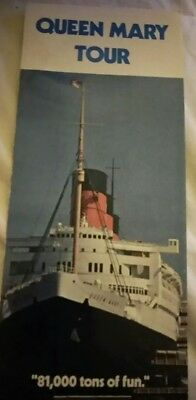 Vintage queen Mary tour brochure from the 1970s