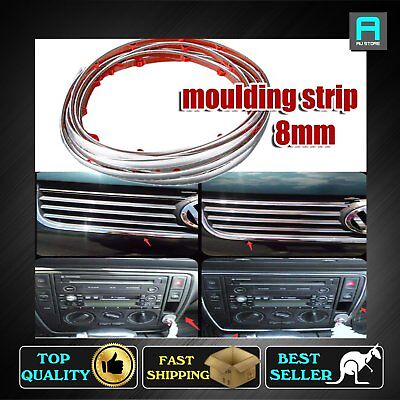 Chrome Styling Moulding Trim Car UTE lower Bumper Mesh Grille Edge Strip 8mm 4M