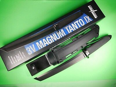 Cold Steel Magnum Tanto IX 13QMBIX 3V Steel Tactical Fixed Blade Knife Military