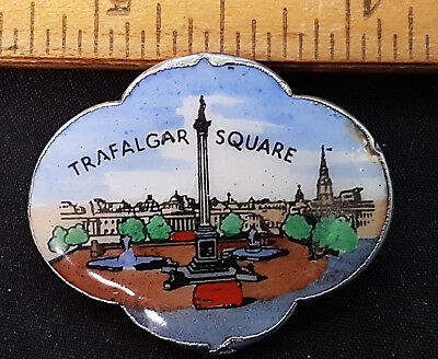 Vintage Cloisonne Trafalger Square Pin. Unique and in Great Condition.