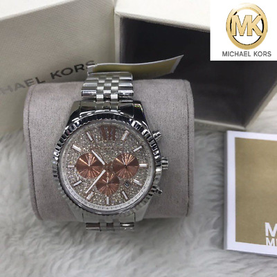 cd0734dcbf3e NWT Michael Kors Women Oversize Lexington Swarovski Glitz Watch MK8515 $350