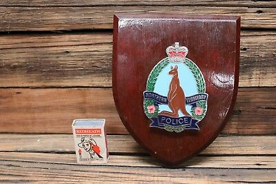 Vintage Northern Territory Police Badge Wall Mounted Plaque