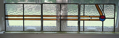 3 Streamline Art Deco Stain Glass Panels that make one design-Neat pieces!!