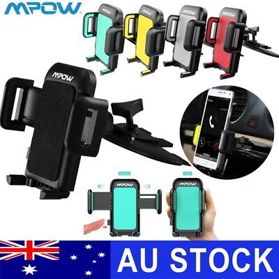 MPOW Universal Car CD Slot Phone Mount Bracket Holder for iPhone 6 7 8 X GPS AU