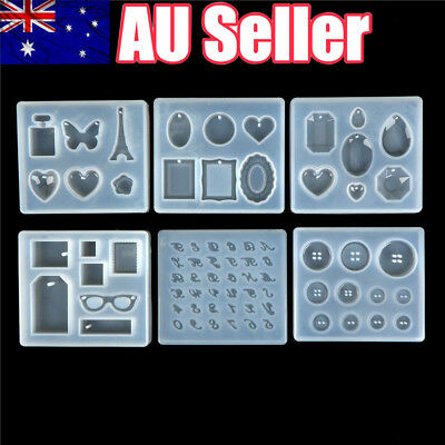 Necklace Pendant Silicone Mold DIY Polymer Clay Resin Craft Jewelry Making Mould