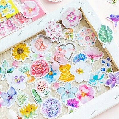 45pcs/pack Flower Stickers DIY Decor Diary Planner Scrapbooking Craft Stationery