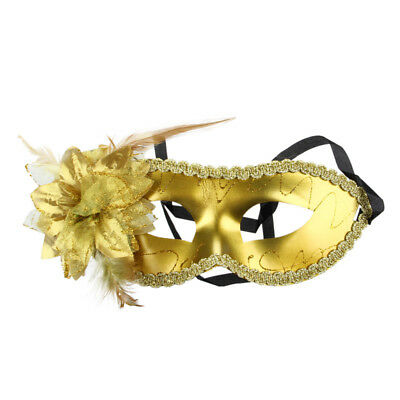 Venetian Feather Fancy Dress Masquerade Costume Carnival Party Ball Mask (G P1D2