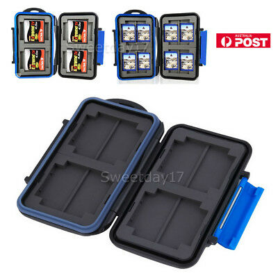 SD CF Memory Card Case Holder Hard Storage Wallet Anti-shock Waterproof BLACK AU