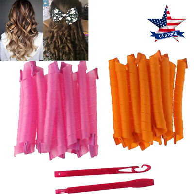 DIY Hair Curlers Tool Styling Rollers Spiral Circle Magic Roller 21 inch 24PCS