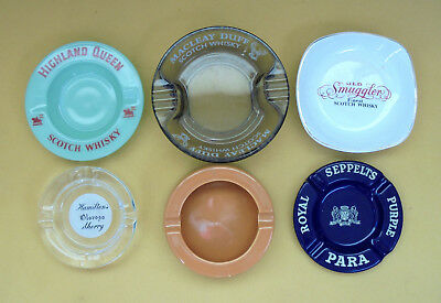 6 Early Bar Items Ash/coin Trays Macleay Duff,highland Queen,seppelt's & More