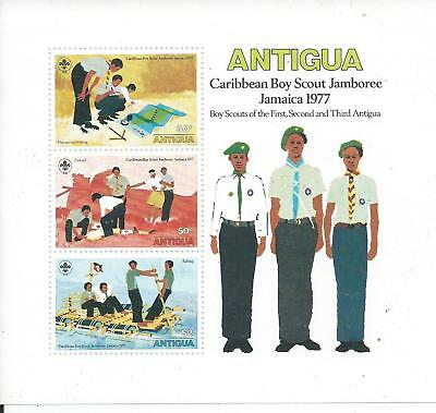 Antigua - 1977 Caribbean Boy Scout Jamboree - Miniature Sheet - Un-mounted mint