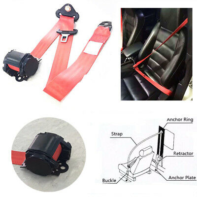 Nylon Universal 3 Point Retractable Car Safety Seat Belt w/quick release camlock