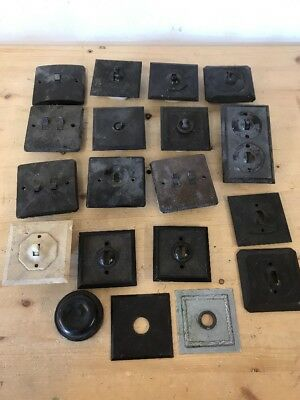 Job Lot Bakelite Wall Light Switches Vintage