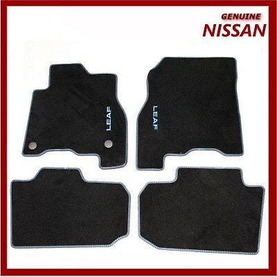 Genuine Nissan Leaf 2018 EV Velour Carpet Floor Mats BLUE. KE7555S00B New!