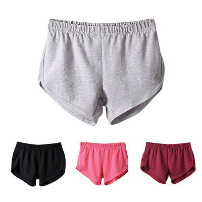 US Women Ladies Summer Jogging Sports Gym Shorts Loose Soft Mini Short Pants