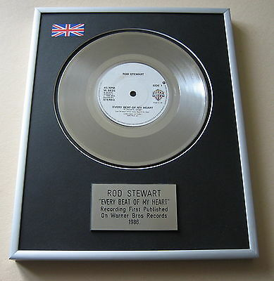 ROD STEWART Every Beat Of My Heart PLATINUM SINGLE DISC PRESENTATION