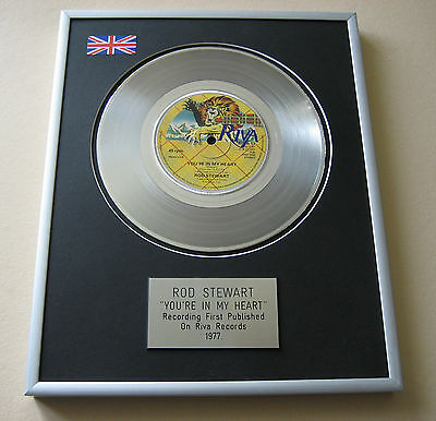 ROD STEWART You're In My Heart PLATINUM SINGLE DISC PRESENTATION