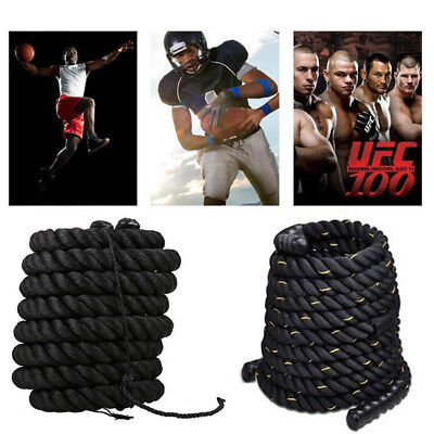 12M/15M Battle Rope Sport Exercice Fitness Physique Combat Gym Keep Fit Fitness