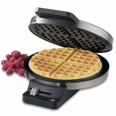 Classic Round Waffle Maker Round Deep Pocket Non-Stick Temperature control New