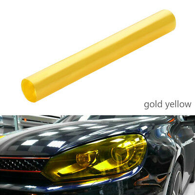 30 x 120cm Yellow Tinting Film Fog Tail Lights Headlights Tint Car Van Wrap