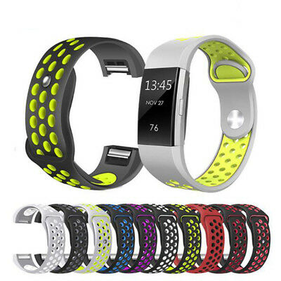 Sport Strap Heart Rate Bands Silicone For Fitbit Charge 2 HR Fitness Wristband