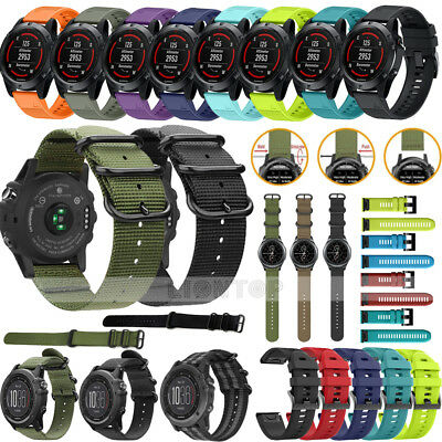 Silicone/Nylon Band Strap Watchband Wristband For Garmin Fenix 3 5S/5X Plus GPS