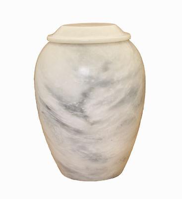 Large Marble Cremation Urn For Ashes Adult Outdoor Garden Memorial white/Grey
