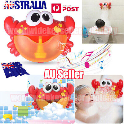 Crab Shape Bubble Automatic Machine Joy Bubble Electric Toy Children Bathing BO