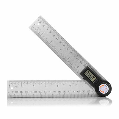 Tacklife MDA01 Digital Protractor 7 Inch Angle Finder Stainless Steel Ruler