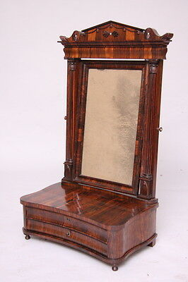 Antique Rare classical Regency rosewood dressing table mirror circa 1825