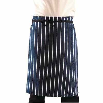 New Navy And White Stripe   Long Waist Apron Chefs,Waiters,Waitress,Bars