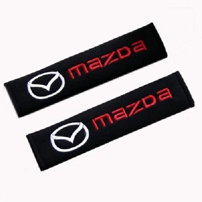 2X Cotton Seat Belt Shoulders Pad Truck Cover Car Styling Accessories for Mazda