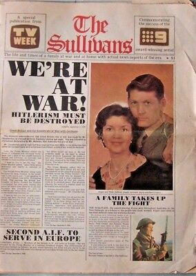 THE SULLIVANS - RARE FULL NEWSPAPER, 1970's, PUBLISHED BY TV WEEK