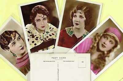 ROSS VERLAG FOREIGN - 1930s Hand-Coloured/Tinted Film Star Postcards #81 to #156
