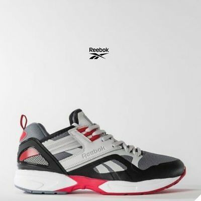 d6cbe9926e4 Reebok Graphlite Road HM Casual Running Shoes BS5810 Gray Red SZ 4-12.5 🔥