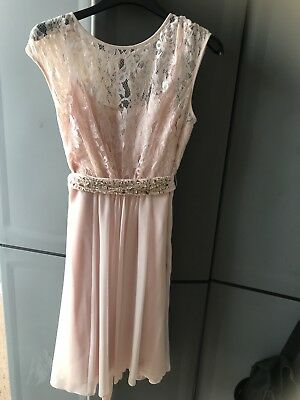 Coast Blush Pink Lace Bridesmaid Party Dress Altered to fit Girl/Teen Aged 10-13