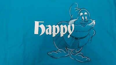 Happy from Snow White and the 7 Seven Dwarfs Disney T-Shirt Size Medium B31*45