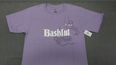 Bashful from Snow White and the 7 Seven Dwarfs Disney T-Shirt Size Small B31*43