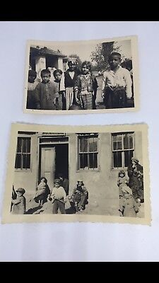 WW2 Gypsy Childern In Getto Original Photos, Concentration Camps,German,Rare!!