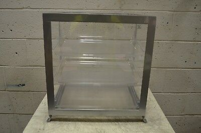 "Cal-Mil 1575-74 Soho Three Tier Silver Display Case 21 1/4"" x 15 3/4"" x 20 3/4"""
