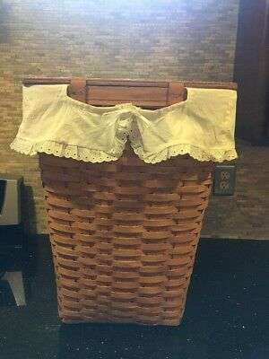 LARGE RARE COLLECTIBLE 1987 SIGNED LONGABERGER CLOTHES HAMPER - great condition